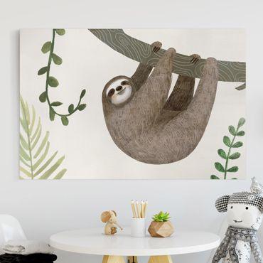Stampa su tela - Sloth Proverbi - Hang - Orizzontale 3:2