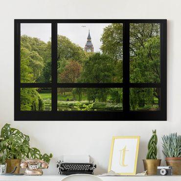 Stampa su tela - Window overlooking St. James Park on Big Ben - Orizzontale 3:2