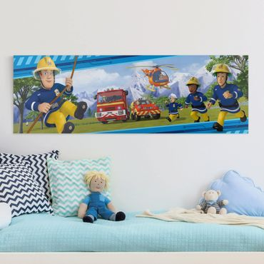 Stampa su tela - Fireman Sam - Always In Action - Panoramico