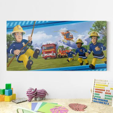 Stampa su tela - Fireman Sam - Always In Action - Orizzontale 2:1