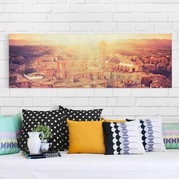 Stampa su tela - Fiery Siena - Panoramico