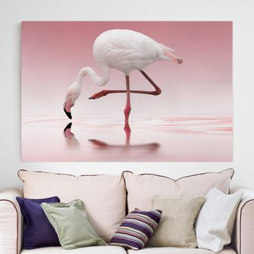 Stampa su tela - Flamingo Dance - Orizzontale 3:2