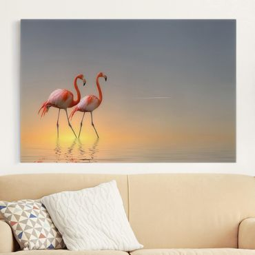 Stampa su tela - Flamingo Love - Orizzontale 3:2