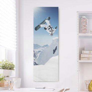Stampa su tela - Flying Snowboarder - Pannello