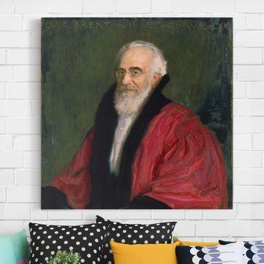 Stampa su tela - Franz von Stuck - Portrait of Lujo Brentano - Quadrato 1:1
