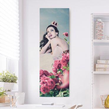 Stampa su tela - Woman In The Rose Field - Pannello