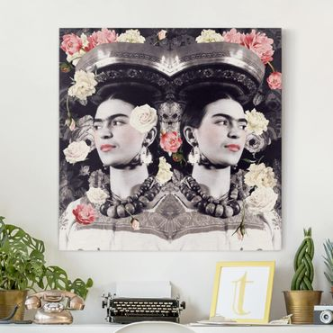 Stampa su tela - Frida Kahlo - Flower Flood - Quadrato 1:1