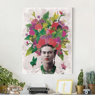 Stampa su tela - Frida Kahlo - Flower Portrait - Verticale 3:4