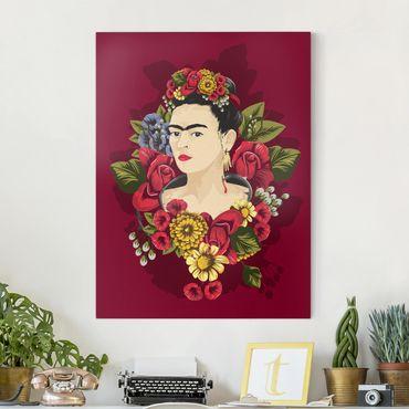 Stampa su tela - Frida Kahlo - Roses - Verticale 3:4
