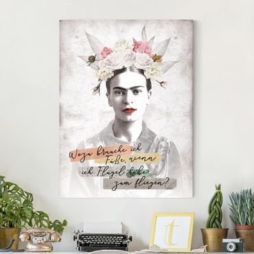 Stampa su tela - Frida Kahlo - Zitat - Verticale 3:4