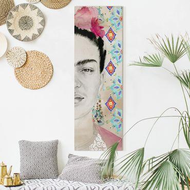 Stampa su tela - Frida Con Fiori Rosa I - Pannello