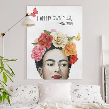 Stampa su tela - I Pensieri Di Frida - Muse - Verticale 3:4