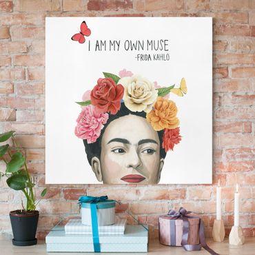 Stampa su tela - Pensieri di Frida - Muse - Quadrato 1:1