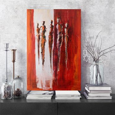 Stampa su tela - Petra Schüßler - Five Figures In Red 01 - Verticale 2:3