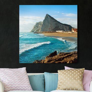 Stampa su tela - Gibraltar At Sea - Quadrato 1:1