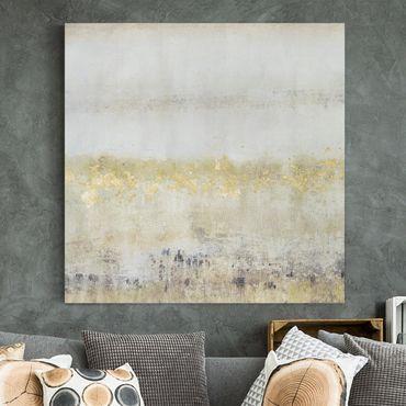 Stampa su tela - Golden Color Fields I - Quadrato 1:1
