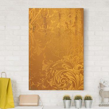 Stampa su tela Golden Flora - Verticale 2:3