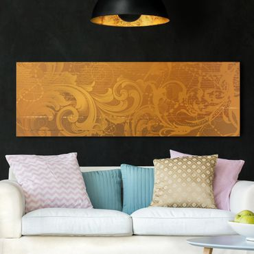 Stampa su tela - Golden Baroque - Panoramico