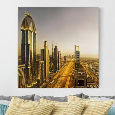 Stampa su tela - Golden Dubai - Quadrato 1:1