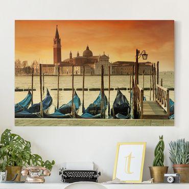 Stampa su tela - Gondolas in Venice - Orizzontale 3:2
