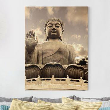 Stampa su tela - Big Buddha Sepia - Verticale 3:4
