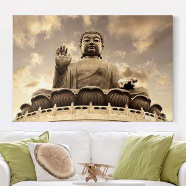 Stampa su tela - Big Buddha Sepia - Orizzontale 3:2