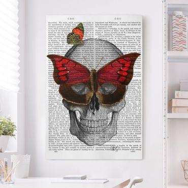 Stampa su tela - Spaventoso Reading - Maschera farfalla - Verticale 2:3
