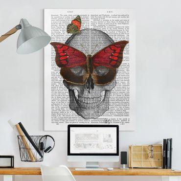 Stampa su tela - Spaventoso Lettura - Maschera Farfalla - Verticale 3:4