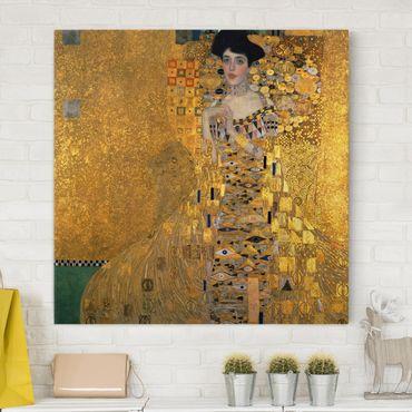 Stampa su tela - Gustav Klimt - Portrait of Adele Bloch-Bauer I - Quadrato 1:1
