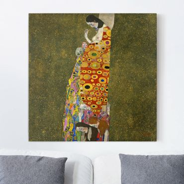 Stampa su tela - Gustav Klimt - Hope - Quadrato 1:1