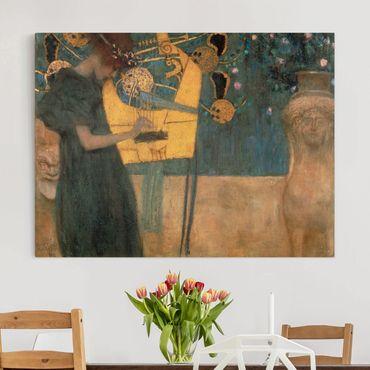 Stampa su tela - Gustav Klimt - La Musica - Orizzontale 4:3