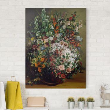 Stampa su tela - Gustave Courbet - Bouquet di Fiori in un Vaso - Verticale 3:4