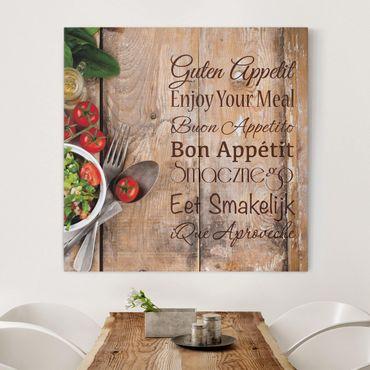 Stampa su tela - Good Appetite - Quadrato 1:1