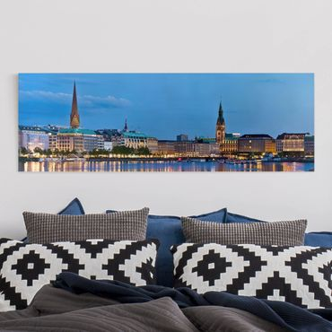 Stampa su tela - Hamburg Skyline - Panoramico