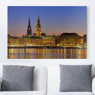 Stampa su tela - Hamburg Panoramico - Orizzontale 3:2