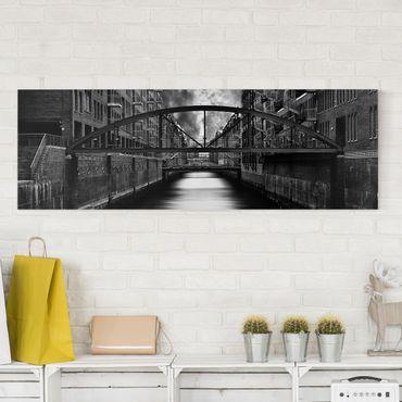 Stampa su tela - L'altro Lato di Amburgo - Panoramico