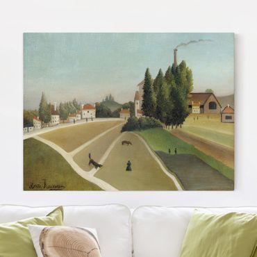Stampa su tela - Henri Rousseau - Paesaggio con la Fabbrica - Orizzontale 4:3