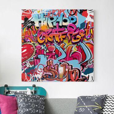 Stampa su tela - Hip Hop Graffiti - Quadrato 1:1