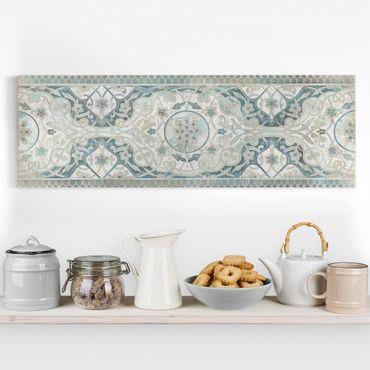 Stampa su tela - Comitato di legno persiana I dell'annata - Panoramico