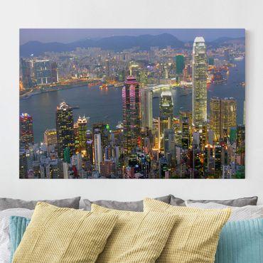 Stampa su tela - Hong Kong skyline - Orizzontale 3:2