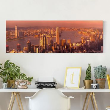 Stampa su tela - Hong Kong Sunset - Panoramico