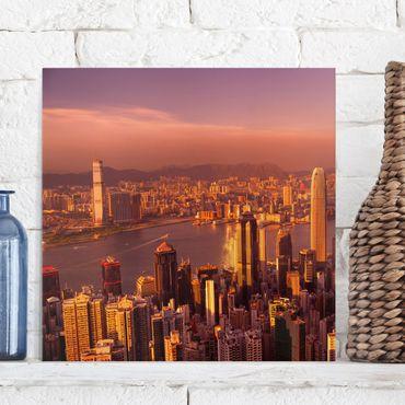Stampa su tela - Hong Kong Sunset - Quadrato 1:1