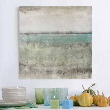 Stampa su tela - Horizon Over Turquoise I - Quadrato 1:1