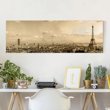 Stampa su tela - I Love Paris - Panoramico