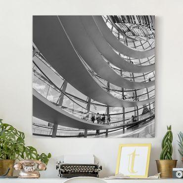 Stampa su tela - In The Berlin Reichstag II - Quadrato 1:1