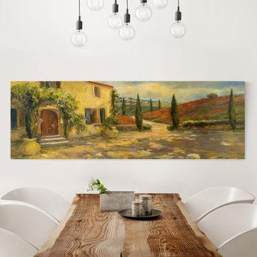 Stampa su tela - Italian Countryside - Tuscany - Panoramico