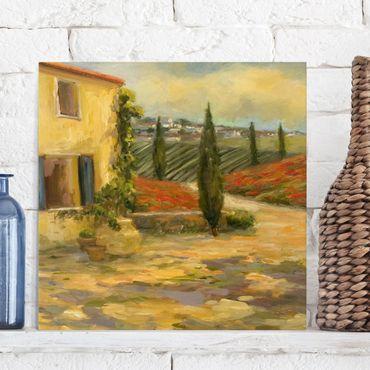 Stampa su tela - Campagna italiana - Toscana - Quadrato 1:1