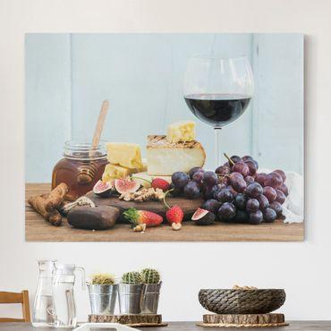 Stampa su tela - Cheese And Wine - Orizzontale 4:3