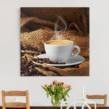 Stampa su tela - Morning Coffee - Quadrato 1:1