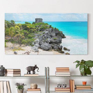 Stampa su tela - Caribbean Coast Tulum Ruins - Orizzontale 2:1